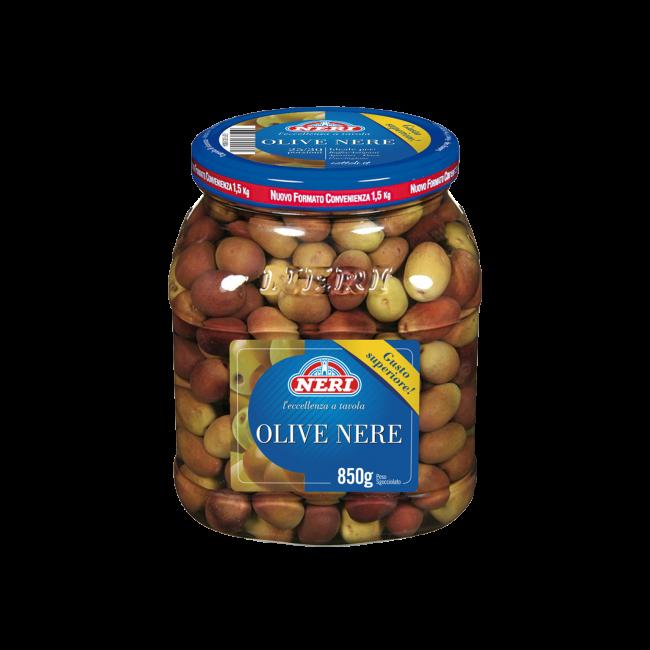 Olive nere intere 850 gr