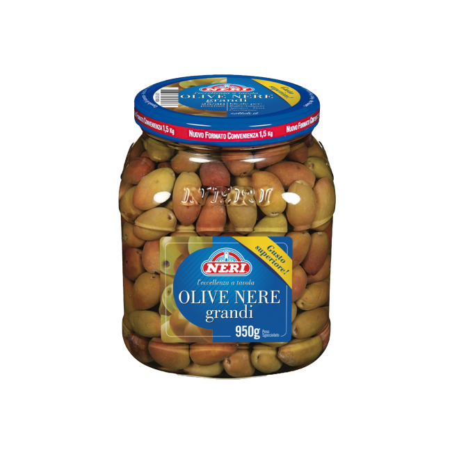 Olive nere intere grandi 950 gr