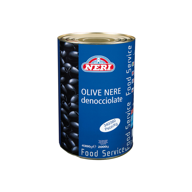 Olive nere latta