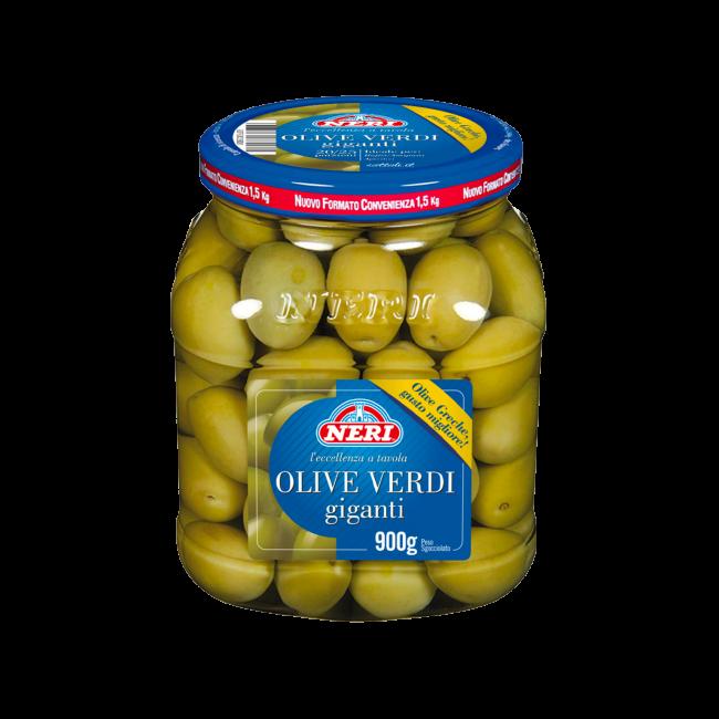 Olive verdi giganti 900 gr